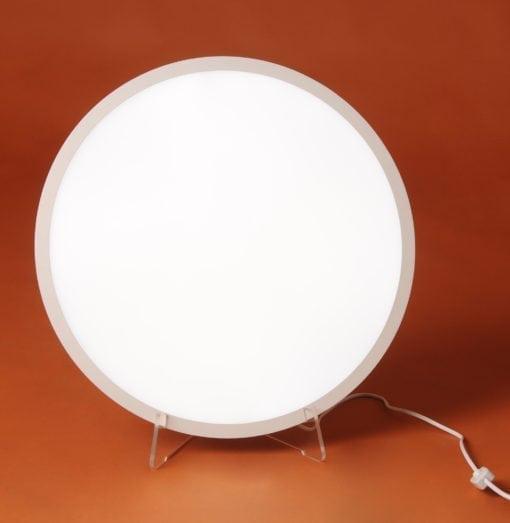Frontal de la lámpara de luminoterapia del Dr. Lefebure Methods: baños de luz