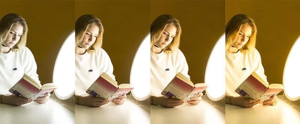 La lámpara de fototerapia permite cambiar la temperatura de color